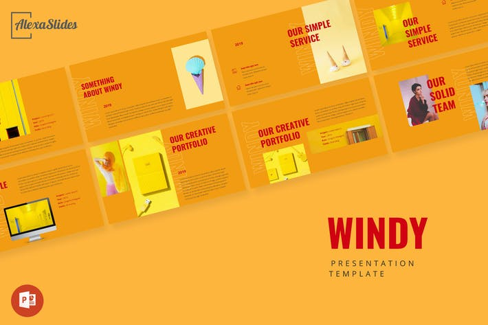 Thumbnail for Windy - Portfolio Powerpoint Presentation