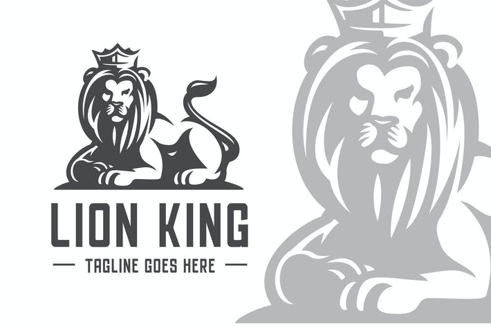 Thumbnail for Lion King Elegant Logo Template