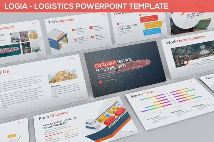 Thumbnail for Logia - Logistics Powerpoint Template