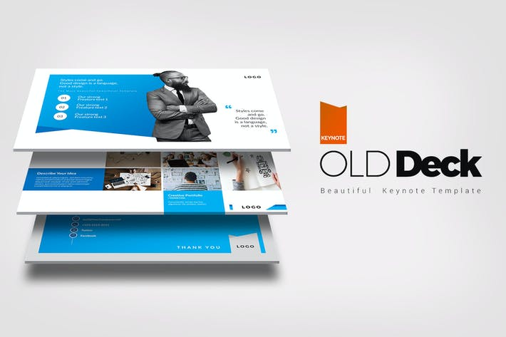 Thumbnail for Old Deck Keynote Templates