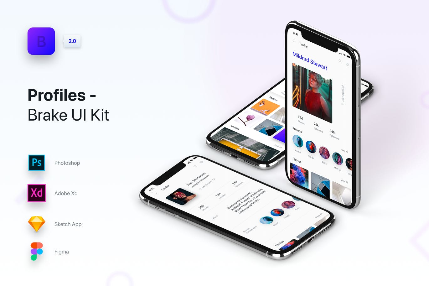 Brake UI Kit 2 0 - Profiles by panoplystore on Envato Elements
