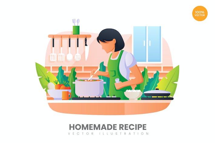 Thumbnail for Homemade Recipe Vector Illustration Concept