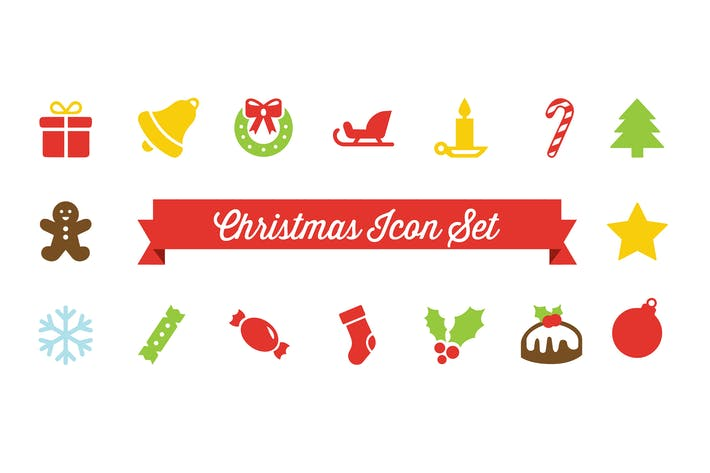 Thumbnail for Christmas Vector Icon Set