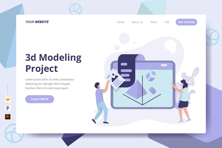Thumbnail for 3d Modeling Project - Landing Page