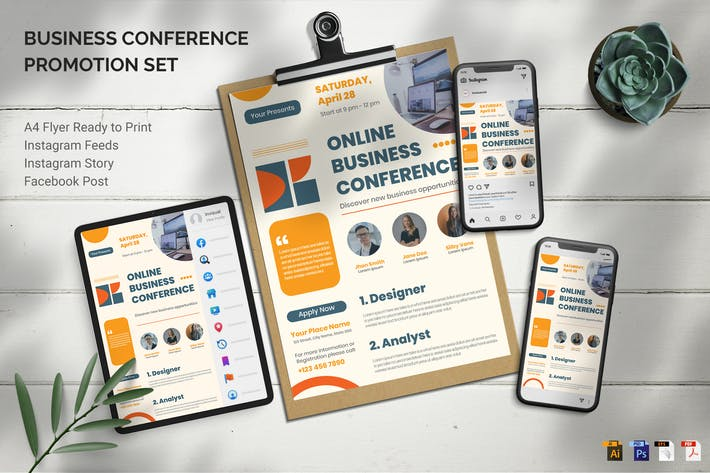 Thumbnail for Conference Business - Promotion Set