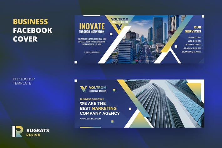 Thumbnail for Business R5 Facebook Cover Template