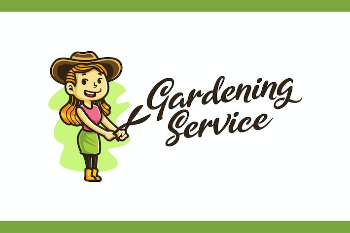 Thumbnail for Gardening and Lanscaping Service Mascot Logo