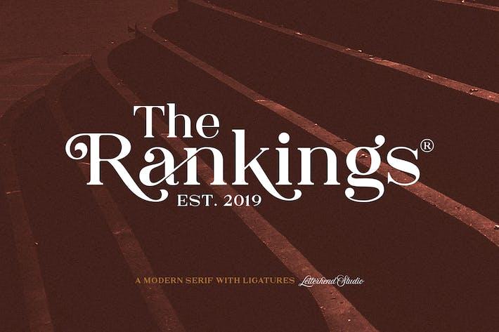 El Ranking Con serifa