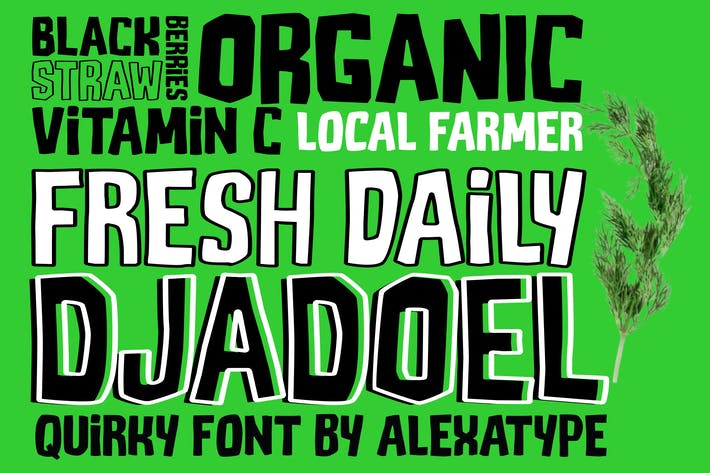 Thumbnail for DJADOEL - Quirky All Caps Font