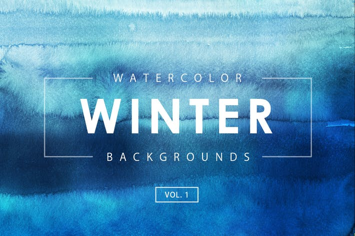 Thumbnail for Winter Watercolor Backgrounds 1