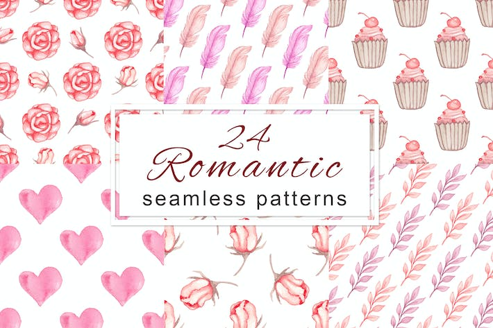 Thumbnail for Romantic Seamless Patterns