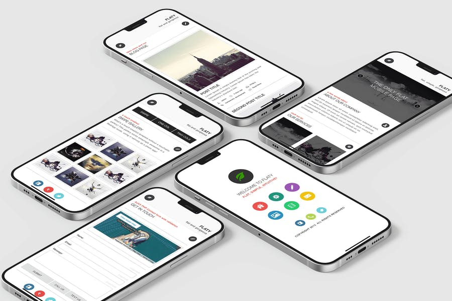 Flaty | Mobile Website Template