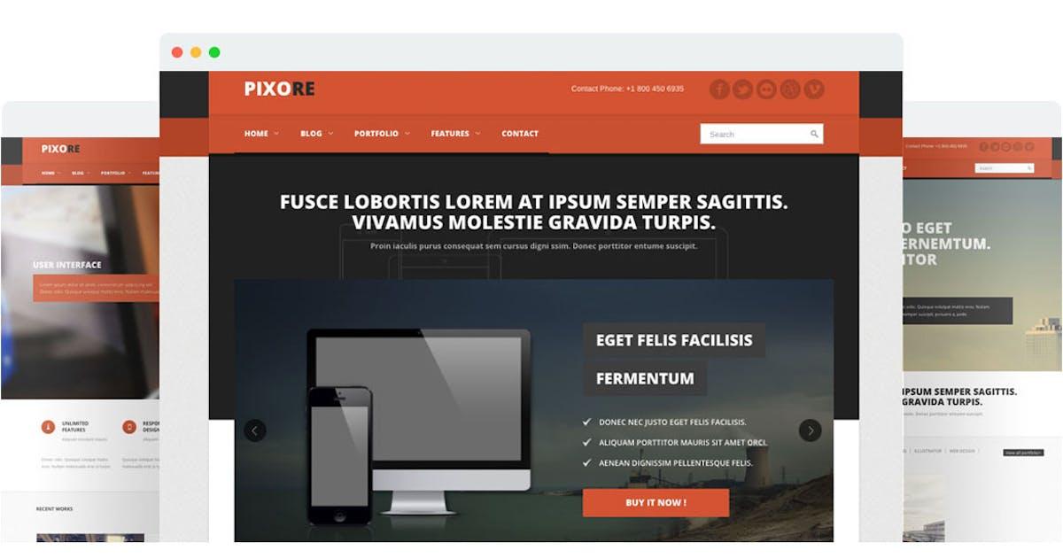 Download Pixore - Responsive Multi-Purpose HTML5 Template by SpyroPress