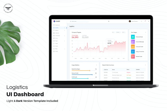 Thumbnail for Logistics Admin Dashboard UI Kit