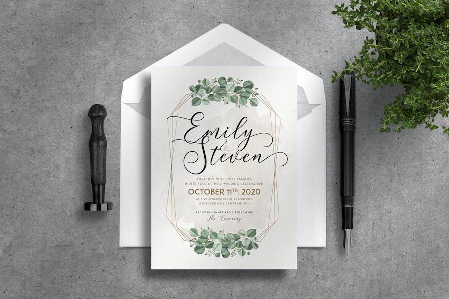 Floral Wedding Invitation Suite