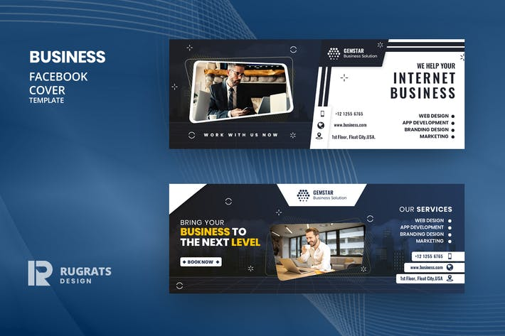 Thumbnail for Business R10 Facebook Cover Template