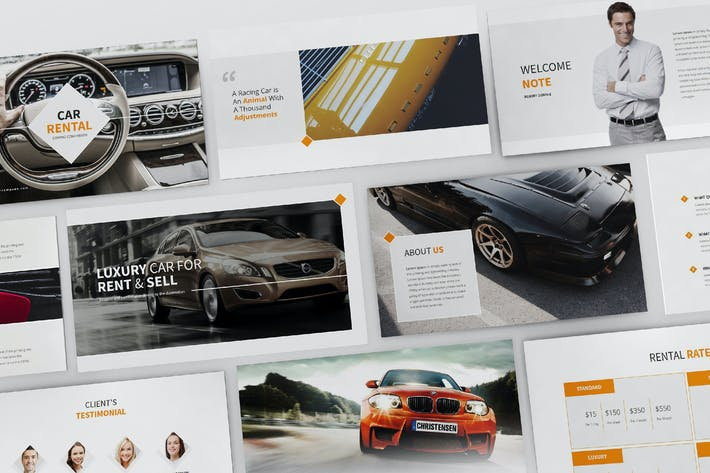 Thumbnail for Cars Rental and Sell Keynote Template