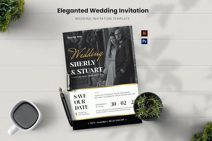 Eleganted Wedding Invitation