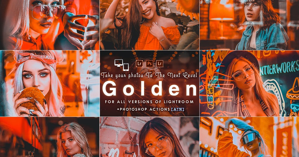 Download Golden Portrait (  Actions and Presets ) by 2lagus