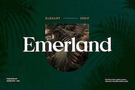 Emerland Con serifa Fuente