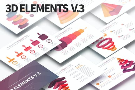 3D Elements V.3 - PowerPoint Infographics Slides
