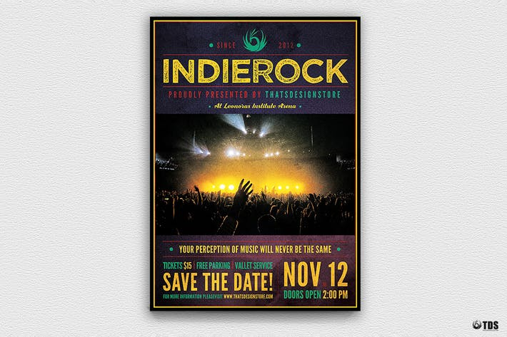 Cover Image For Indie Rock Flyer Template