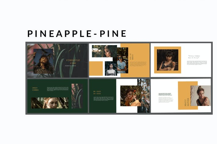 Thumbnail for Pineapple Pine - Powerpoint Template