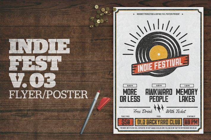 Thumbnail for Indie Fest Poster V03