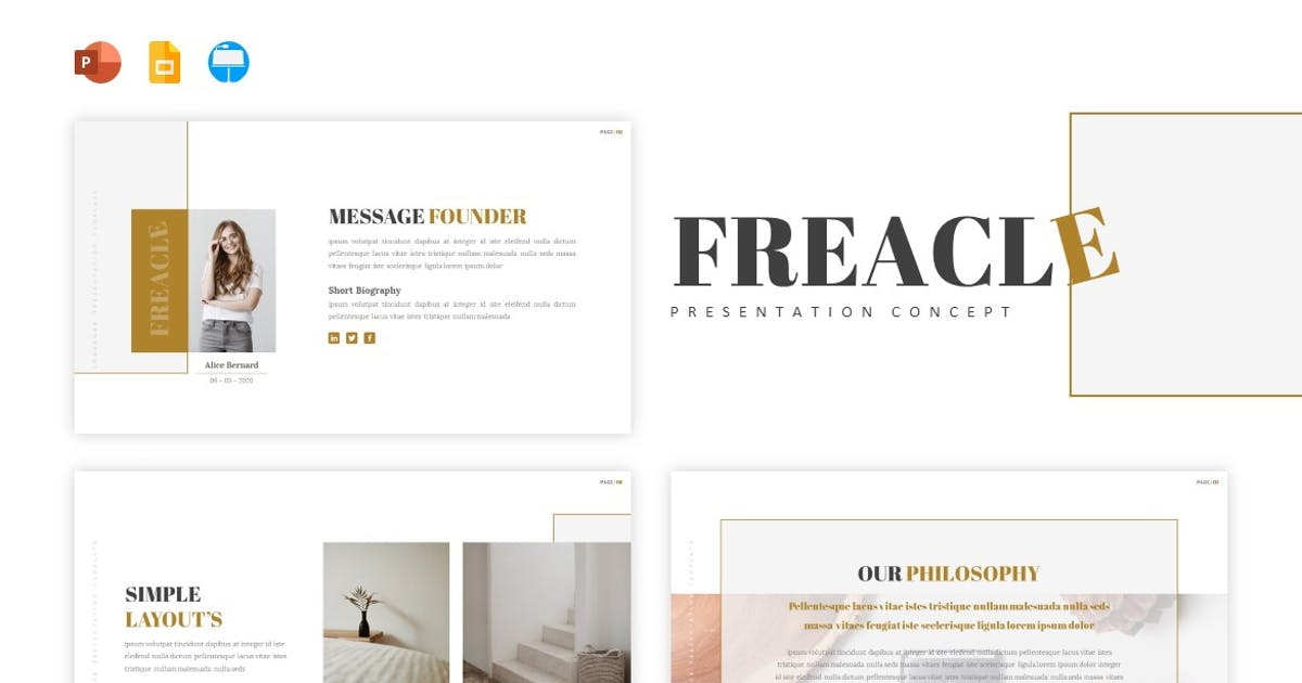 Download Freacle - Presentation Template by Fannanstudio