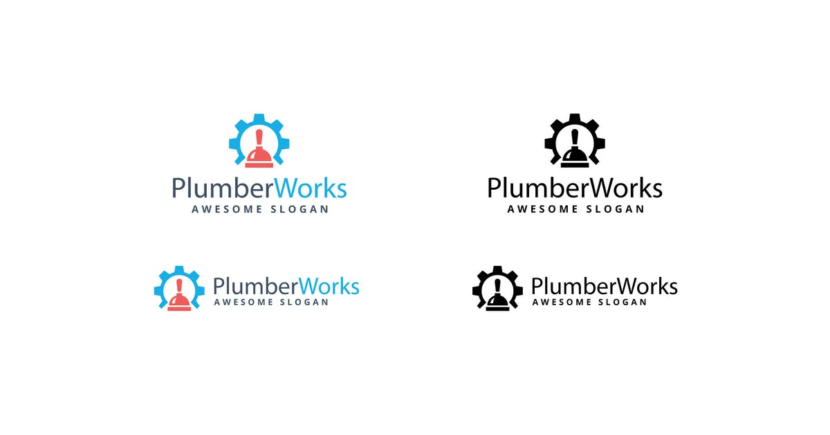 Download Plumber Works Logo Template by 1protheme