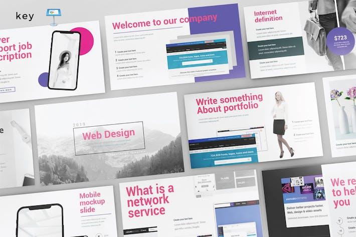 Thumbnail for WEB DESIGN - Multipurpose Keynote Template V155