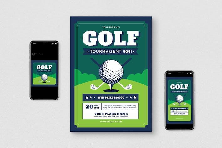 Thumbnail for Golf Tournament Flyer Set