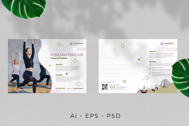 Yoga Postcard Design