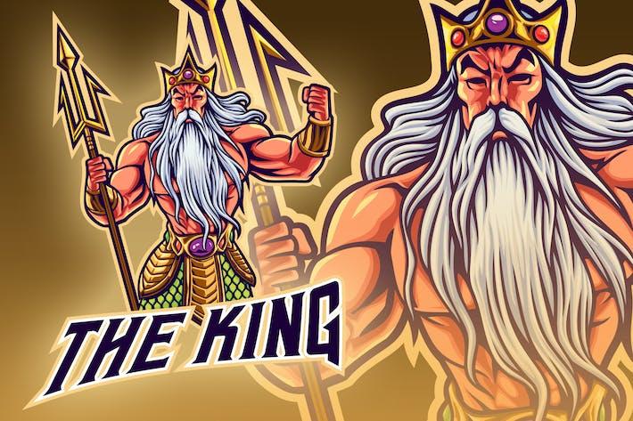Thumbnail for Poseidon God Esport Mascot Logo