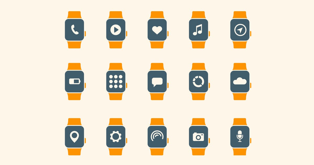 Download 15 Smart Watch App Icons by creativevip