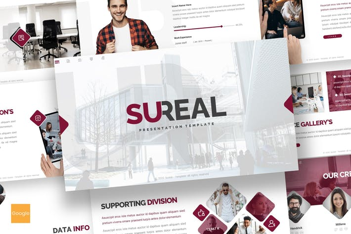 Thumbnail for Sureal - Business Google Slides Template