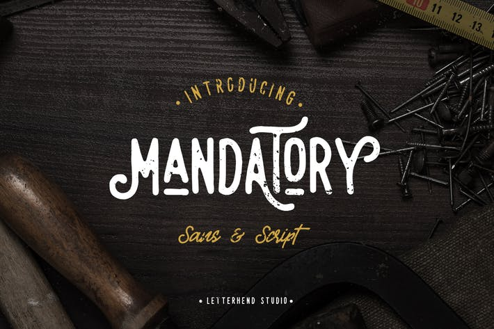 Thumbnail for Mandatory - Vintage Font Duo