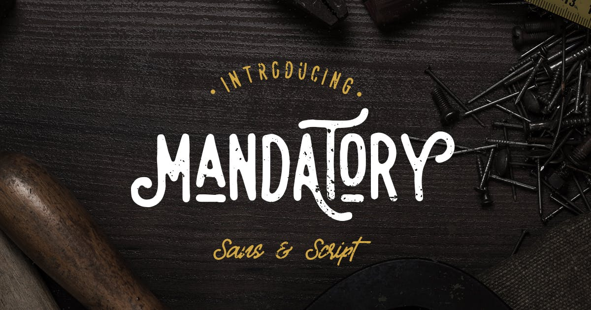 Download Mandatory - Vintage Font Duo by letterhend