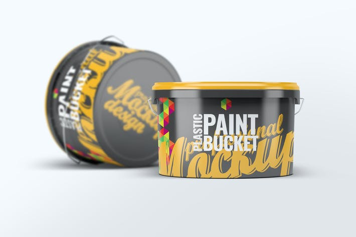 Cover Image For Plastic Paint Bucket Mock-Up v2