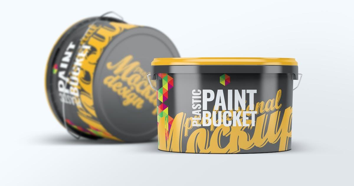 Download Plastic Paint Bucket Mock-Up v2 by L5Design