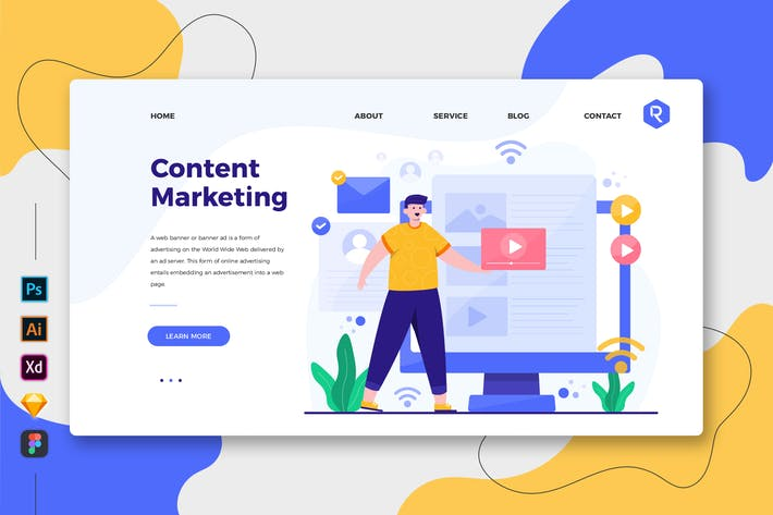 Thumbnail for Content Marketing - Web- und Mobile-Zielseite