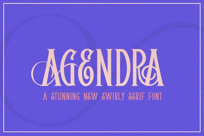 Thumbnail for Agendra Con serifa Font Color: