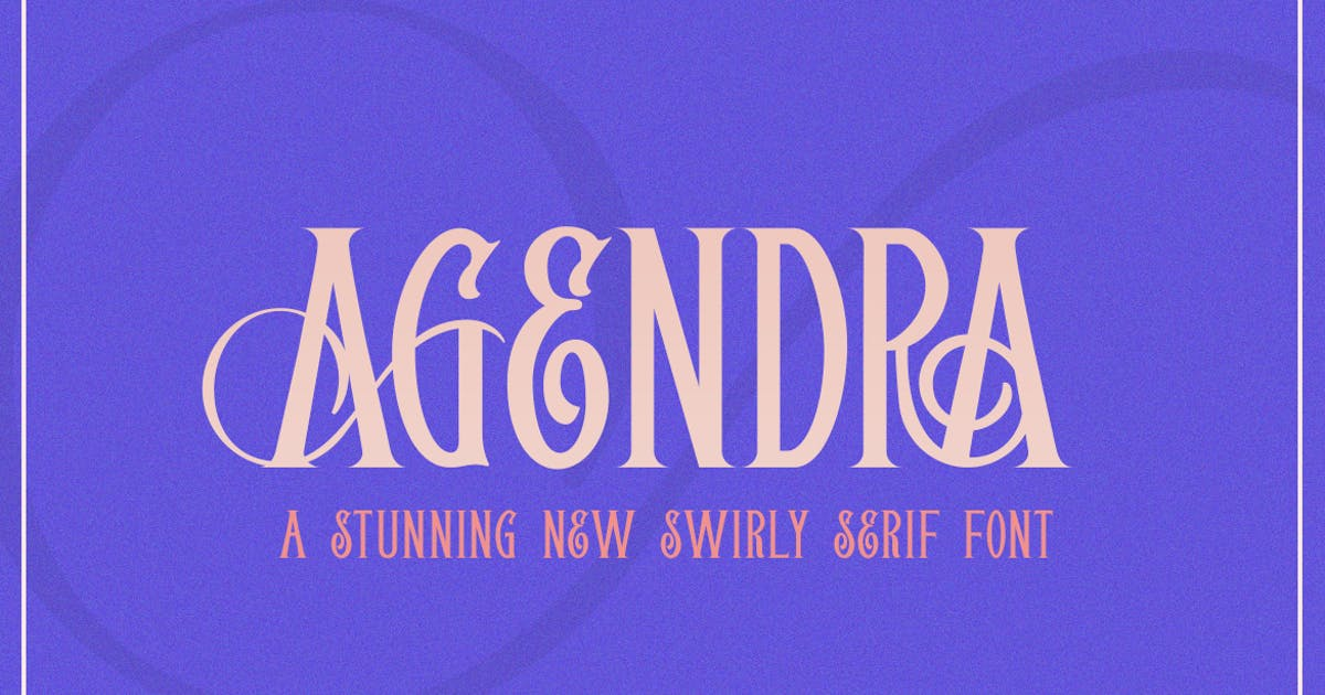 Download Agendra Serif Font by maroonbaboon