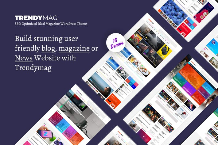 Thumbnail for TrendyMag - WordPress News Magazine & Blog Theme