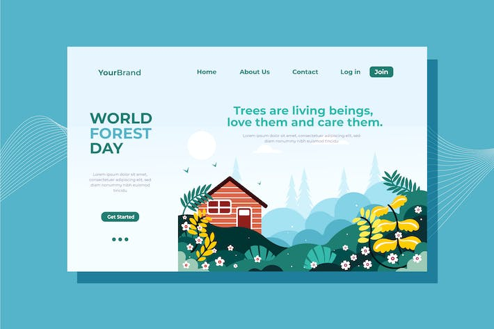Thumbnail for World Forest Day Landing Page Illustration
