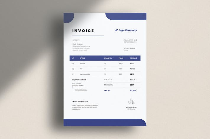 Thumbnail for Invoice Corporate