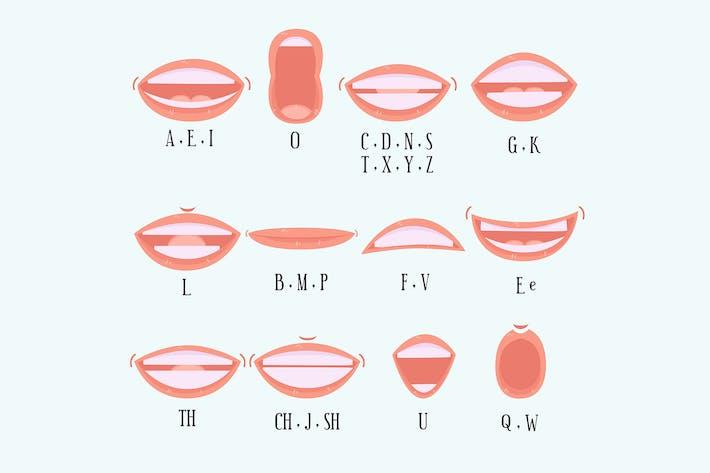 Thumbnail for Sorte Mund Alphabet Sammlung