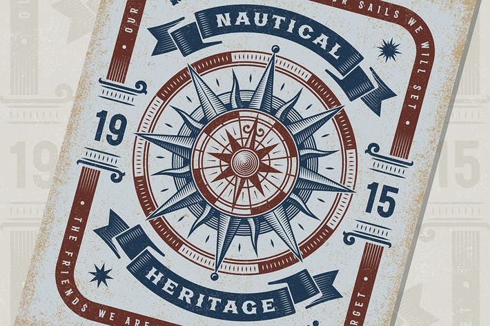 Thumbnail for Vintage Nautical Heritage Tipografía