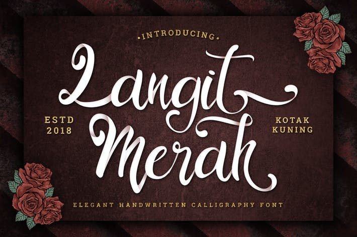 Thumbnail for Langit Merah - Police de calligraphie manuscrite
