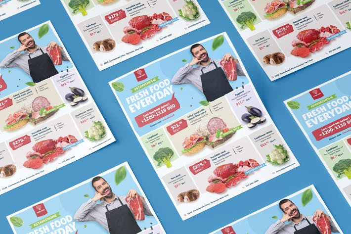 Thumbnail for Fresh food supermarket flyer